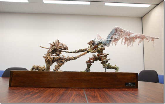 Takahashi's team built this model as a reference for building the worlds of Bionis & Mechonis!