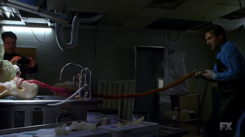 The Autopsy. That long rubber hose is the stinger!