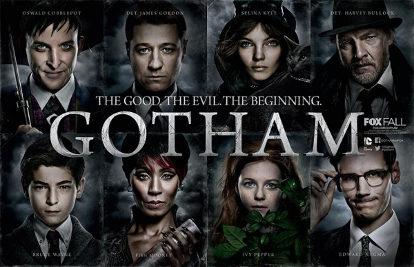 The main cast of Gotham...don't be fooled though, Ivy shows up for maybe 5 minutes in the pilot and that's about it!