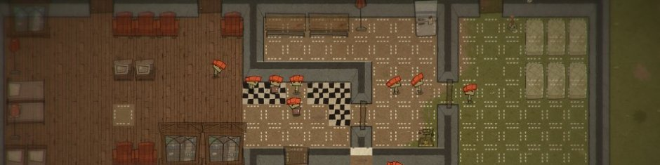 The little white tiles are the spots your monsters will put down flooring and stuff!