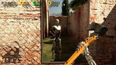 Handsome bot with a badass axe!