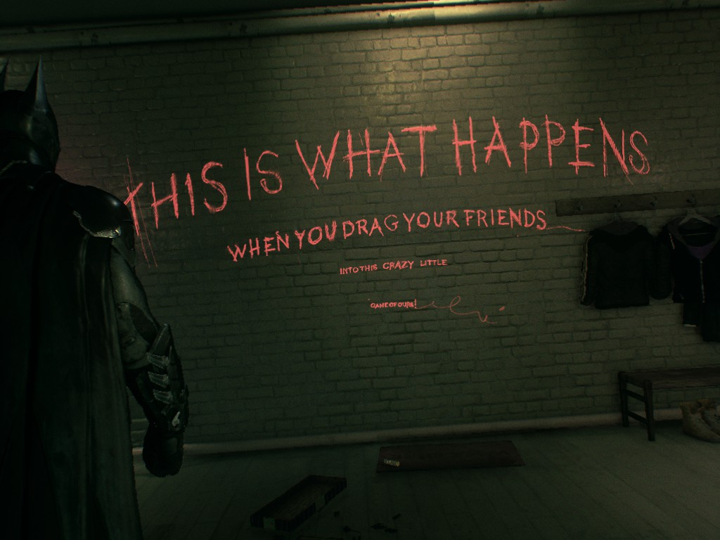 One of the best moments is a reference to The Killing Joke (Image Credit: Recorded by Kevin)