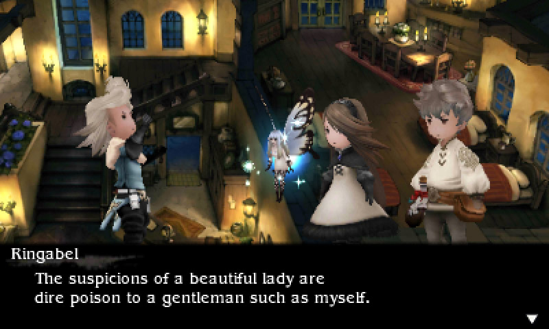 Conversations don't just toe the line of corniness, they gleefully jump over it! (Image Credit: Eurogamer)