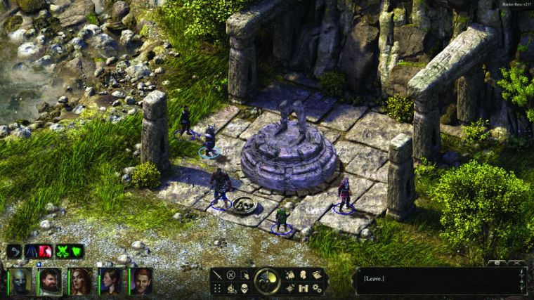 Pillars of Eternity - Contextual interactions